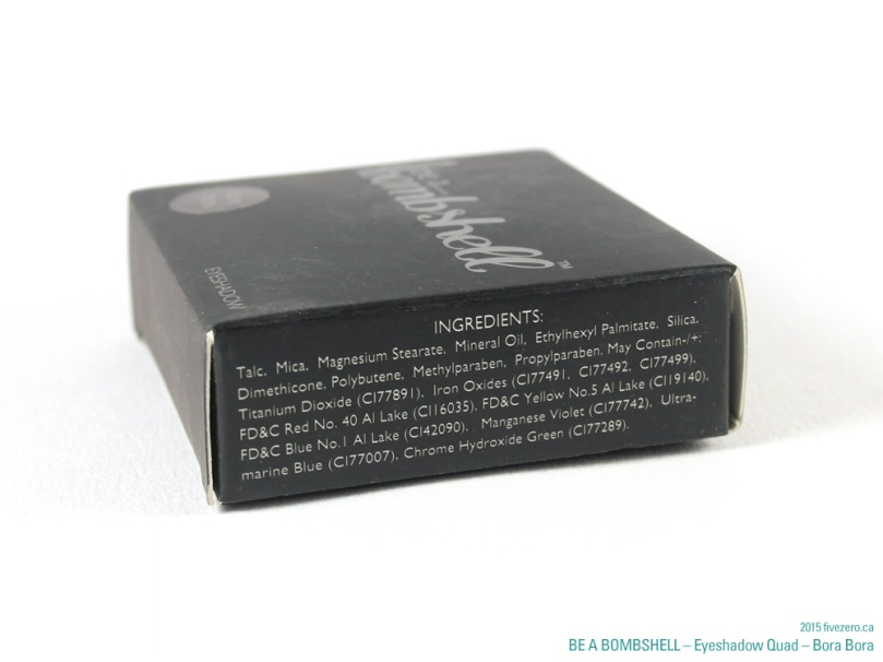 Be a Bombshell Eyeshadow Quad in Bora Bora, ingredients list