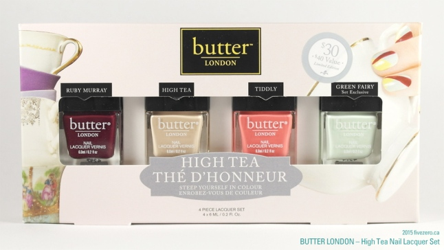 butter LONDON 3 Free Nail Lacquer High Tea Set