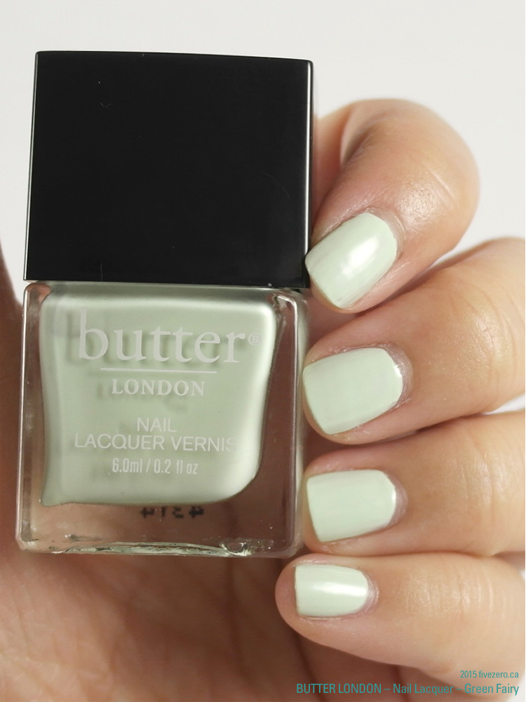 butter LONDON 3 Free Nail Lacquer in Green Fairy, swatch