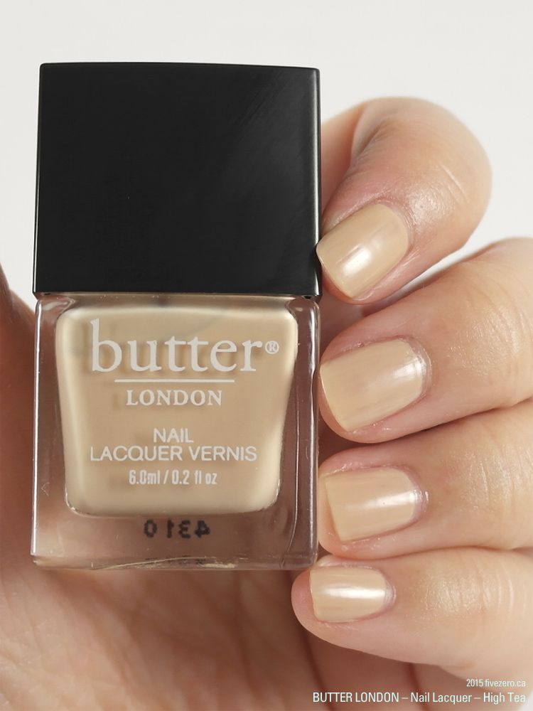 butter LONDON 3 Free Nail Lacquer in High Tea, swatch