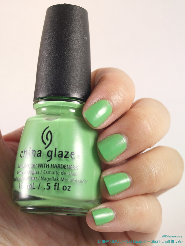 China Glaze Nail Lacquer in Shore Enuff, swatch