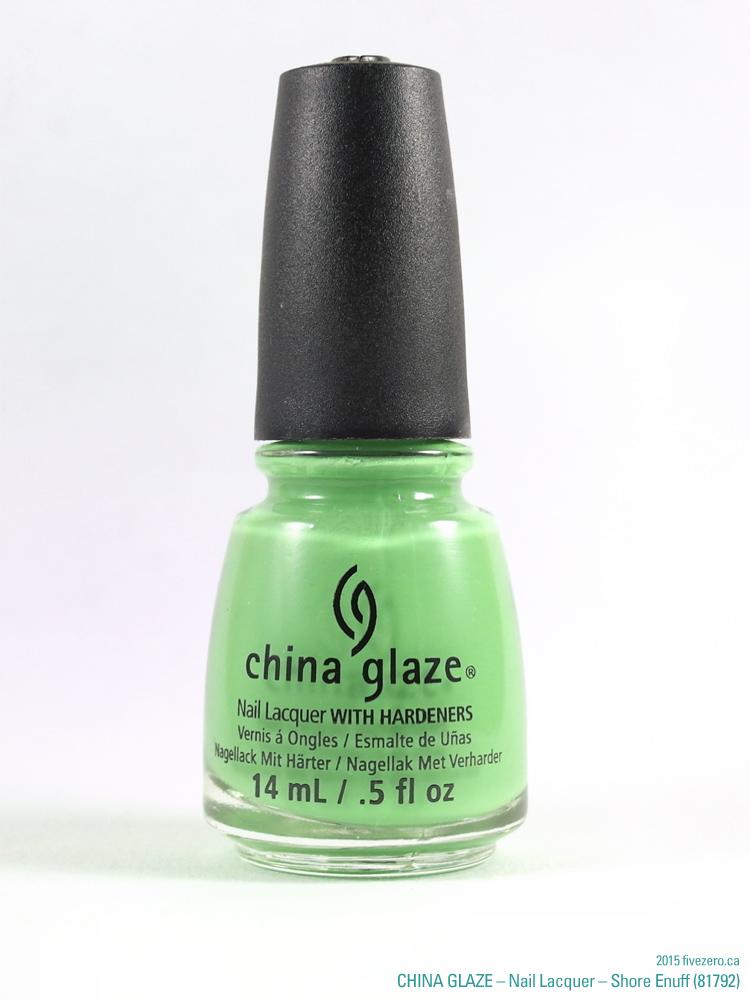 China Glaze Nail Lacquer in Shore Enuff