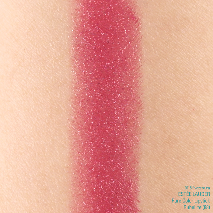 Estee Lauder Pure Color Lipstick GWP in Rubellite, swatch