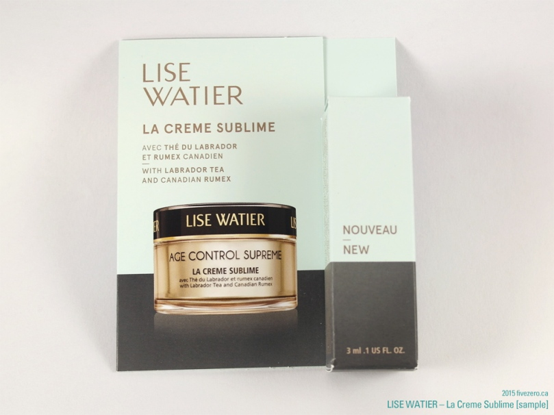 Lise Watier La Creme Sublime sample