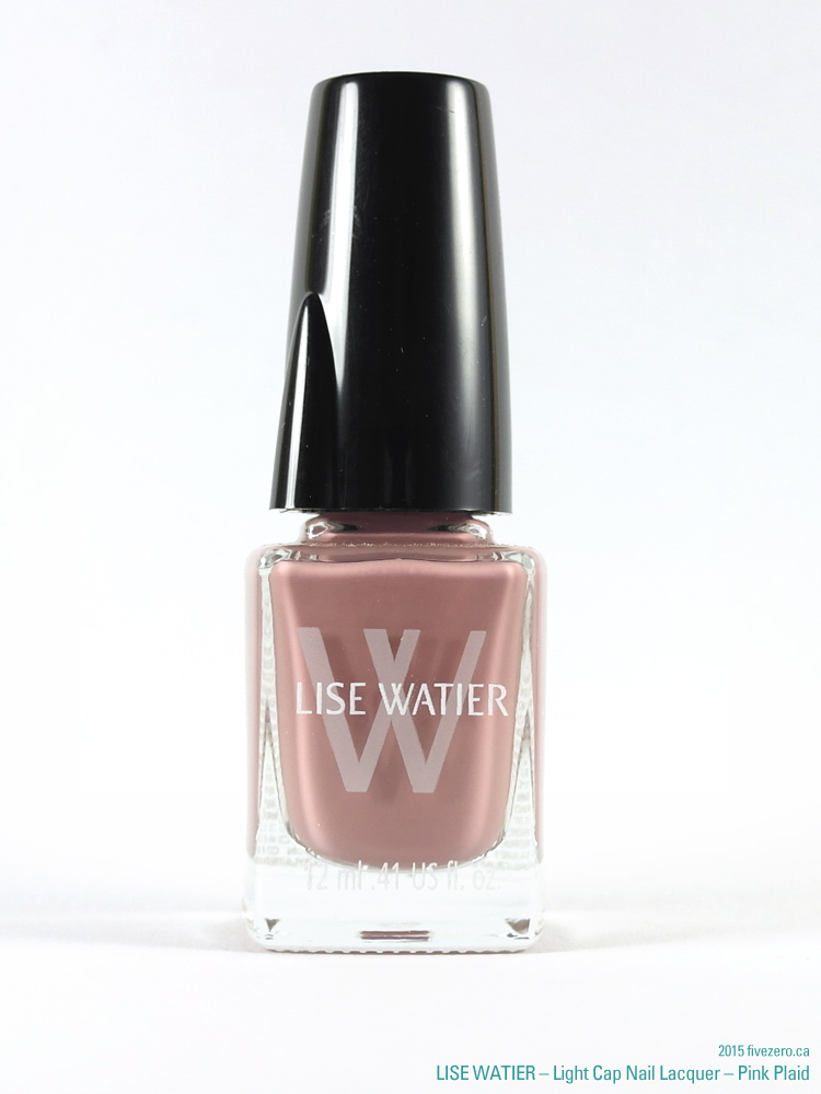 Lise Watier Light Cap Nail Lacquer in Pink Plaid