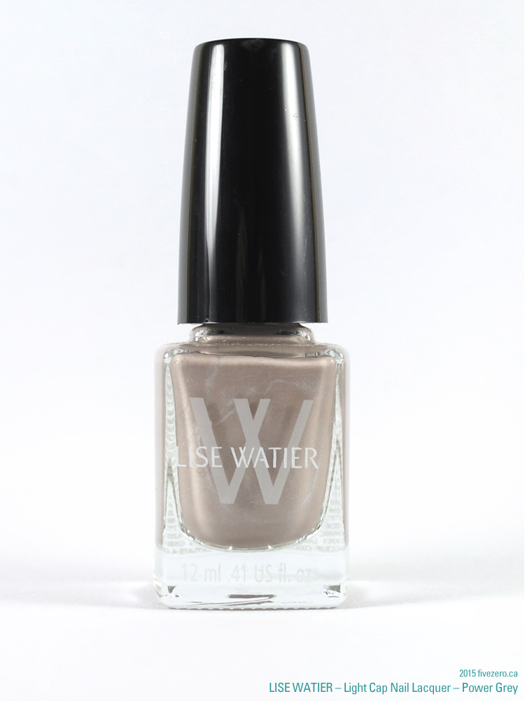 Lise Watier Light Cap Nail Lacquer in Power Grey