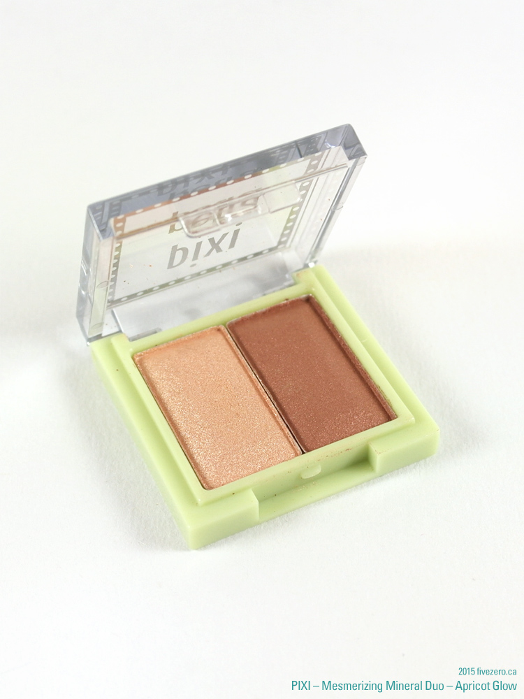 Pixi by Petra Mesmerizing Mineral Eyeshadow Duo in Apricot Glow