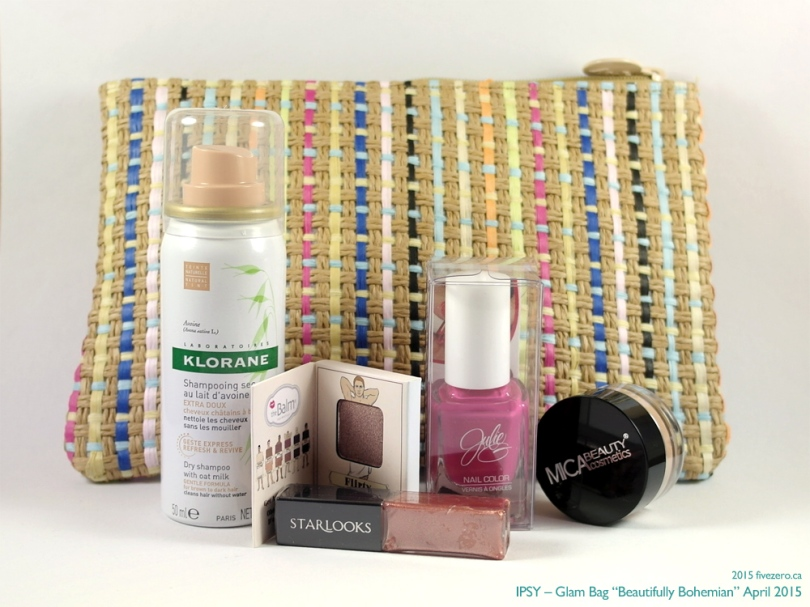 "Ipsy April 2015 Glam Bag ""Beautifully Bohemian"""