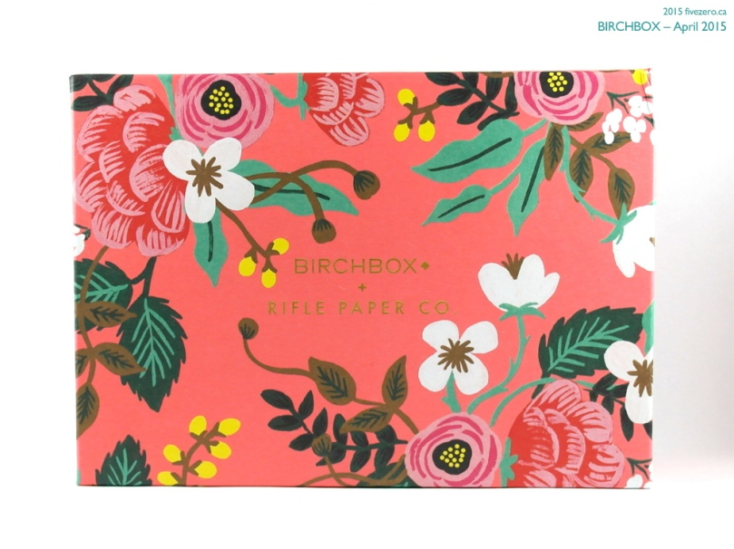 Birchbox April 2015, box by Rifle Paper Co.