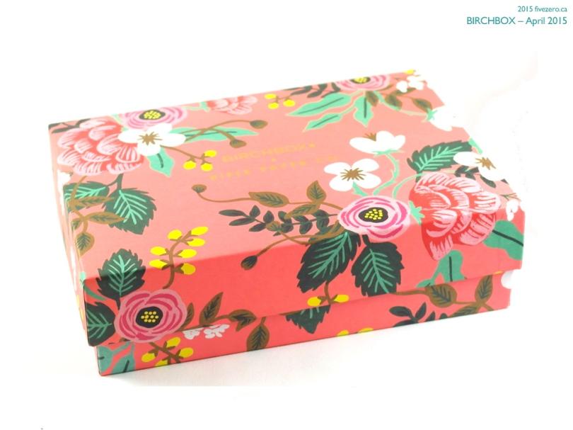 Birchbox April 2015, box by Rifle Paper Co.
