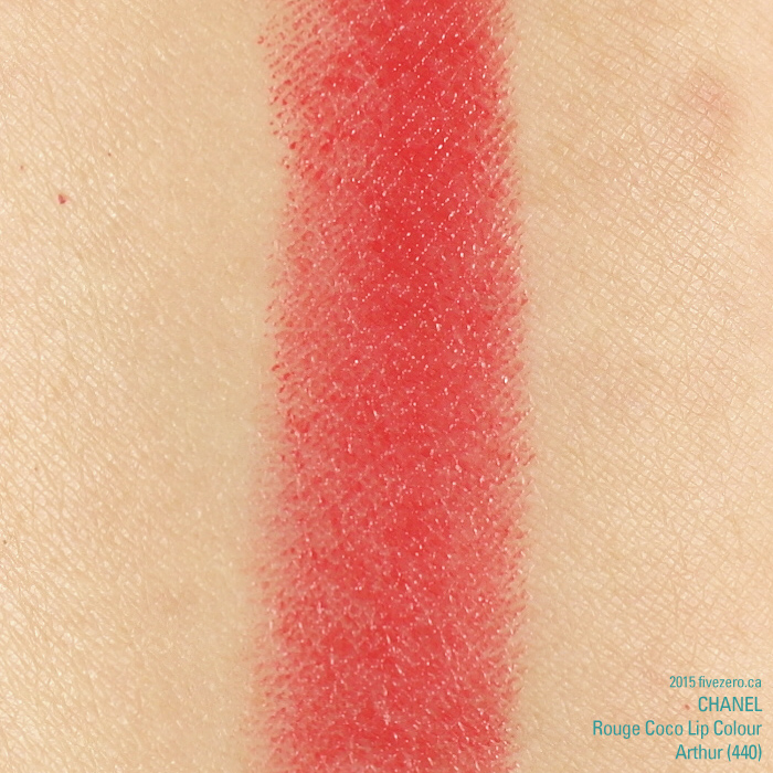 Chanel Rouge Coco Lip Colour in Arthur, swatch
