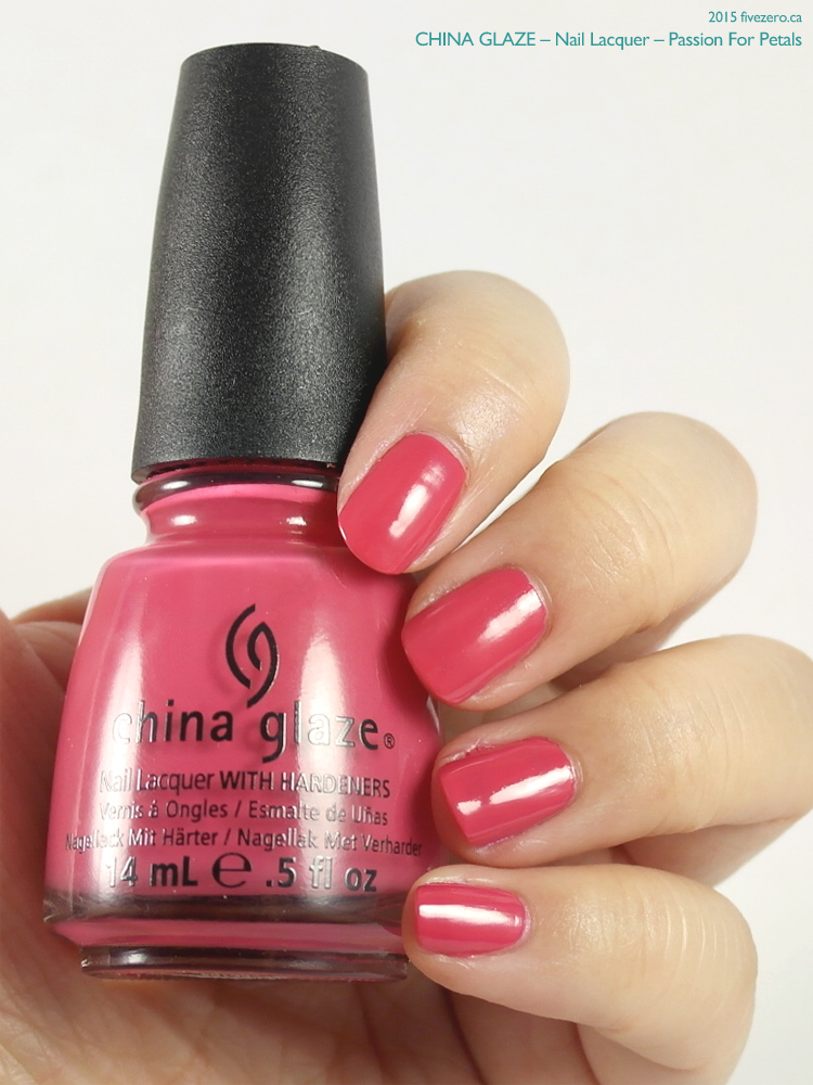 China Glaze Nail Lacquer in Passion For Petals, swatch