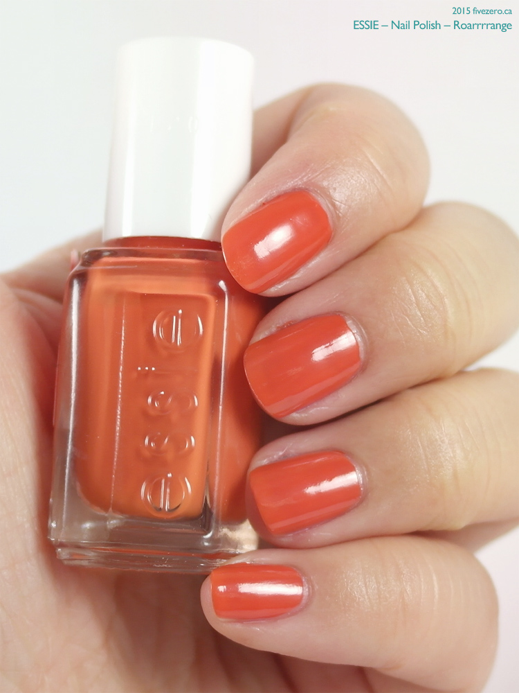 Essie Nail Polish in Roarrrrange, swatch