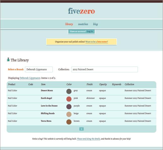 fivezero nail polish library revamp April 2015