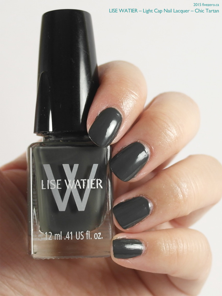 Lise Watier Light Cap Nail Lacquer in Chic Tartan, swatch