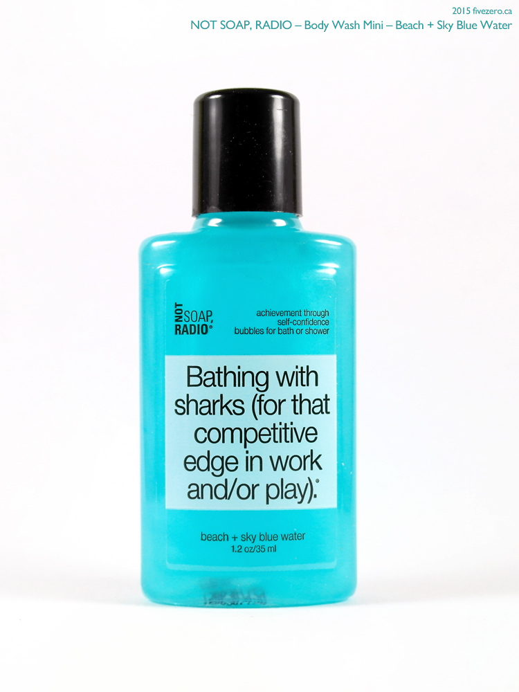 Not Soap, Radio Body Wash Mini in Beach + Sky Blue Water (Birchbox mini)