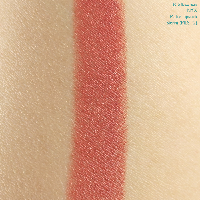 NYX Matte Lipstick in Sierra, swatch