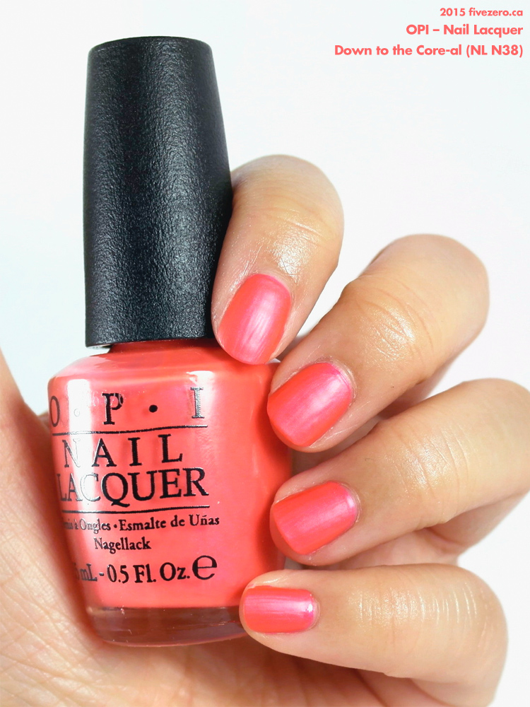 OPI Nail Lacquer in Down to the Core-al, swatch