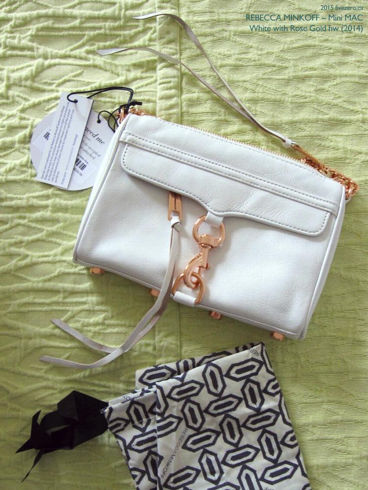 Rebecca Minkoff Mini MAC handbag in White with Rose Gold Hardware (2014)
