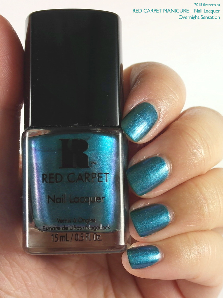 Red Carpet Manicure Nail Lacquer in Overnight Sensation, swatch