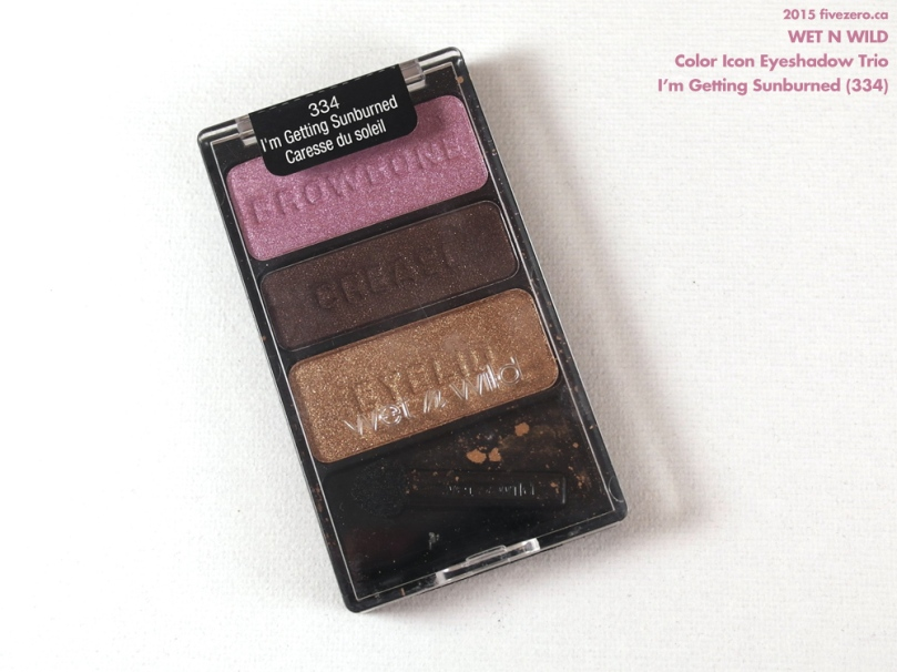 Wet n Wild Color Icon Eyeshadow Trio in I'm Getting Sunburned