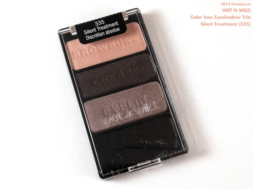 Wet n Wild Color Icon Eyeshadow Trio in Silent Treatment