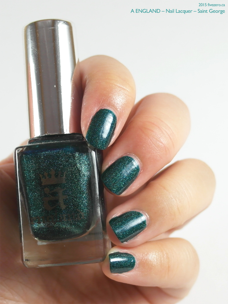 A-England Nail Lacquer in Saint George, swatch