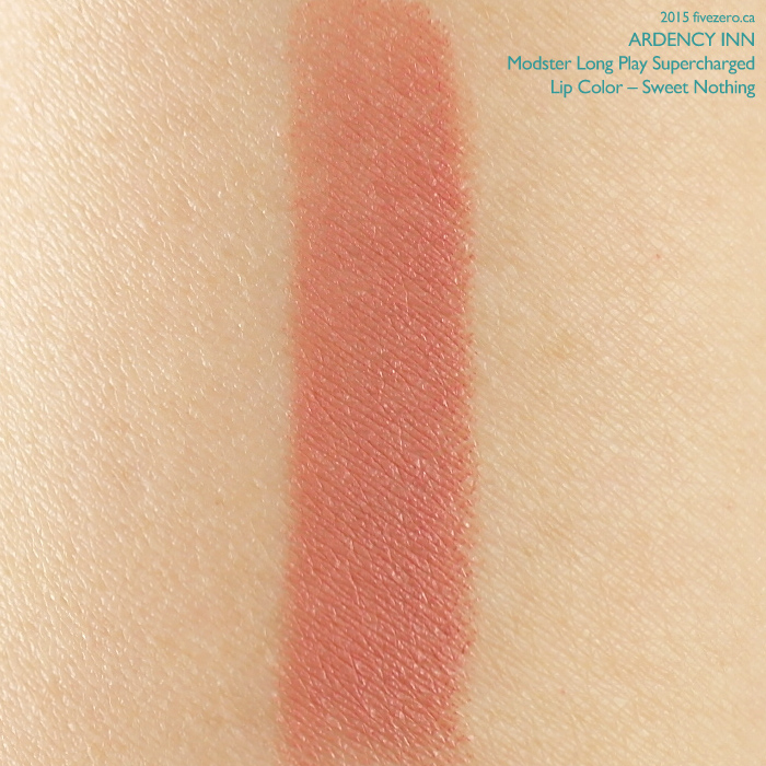 Ardency Inn Modster Long Play Supercharged Lip Color in Sweet Nothing, swatch