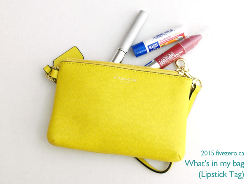 Lipstick Tag: What's in my Coach wristlet