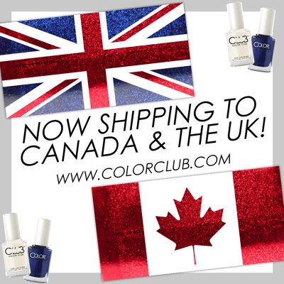 Color Club shipping Canada & UK