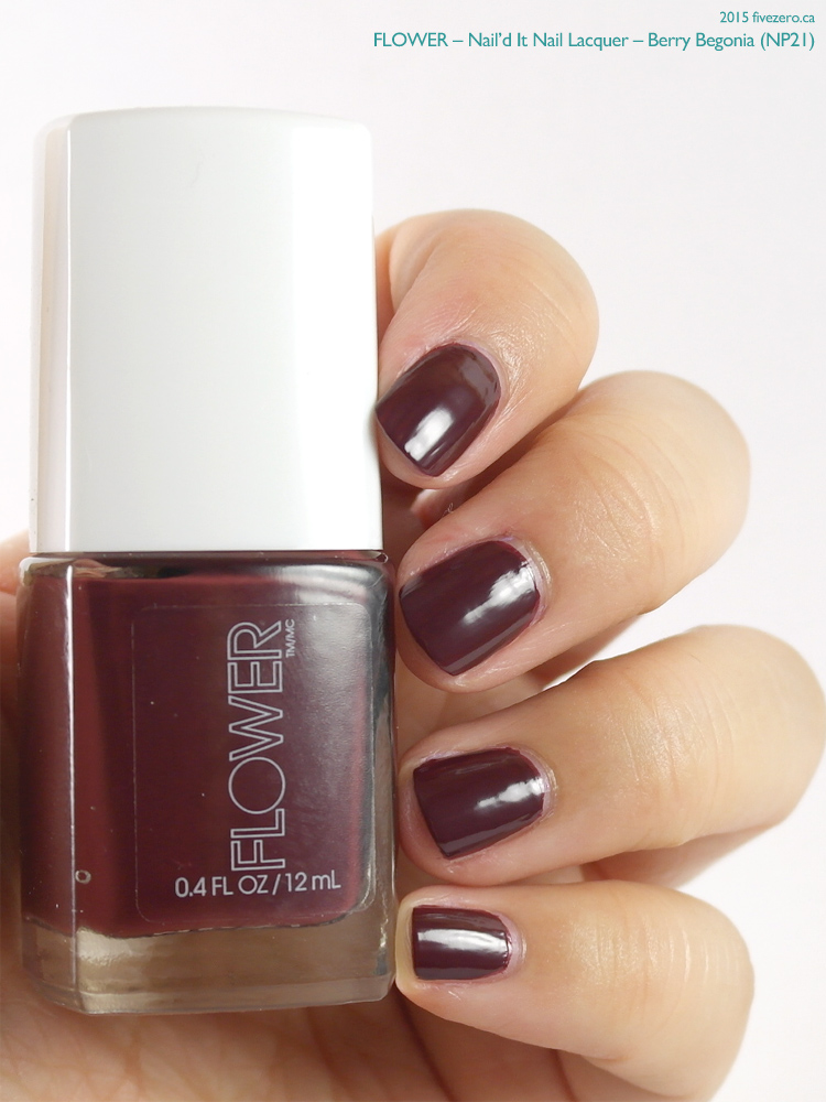 Flower Nail'd It Nail Lacquer in Berry Begonia, swatch