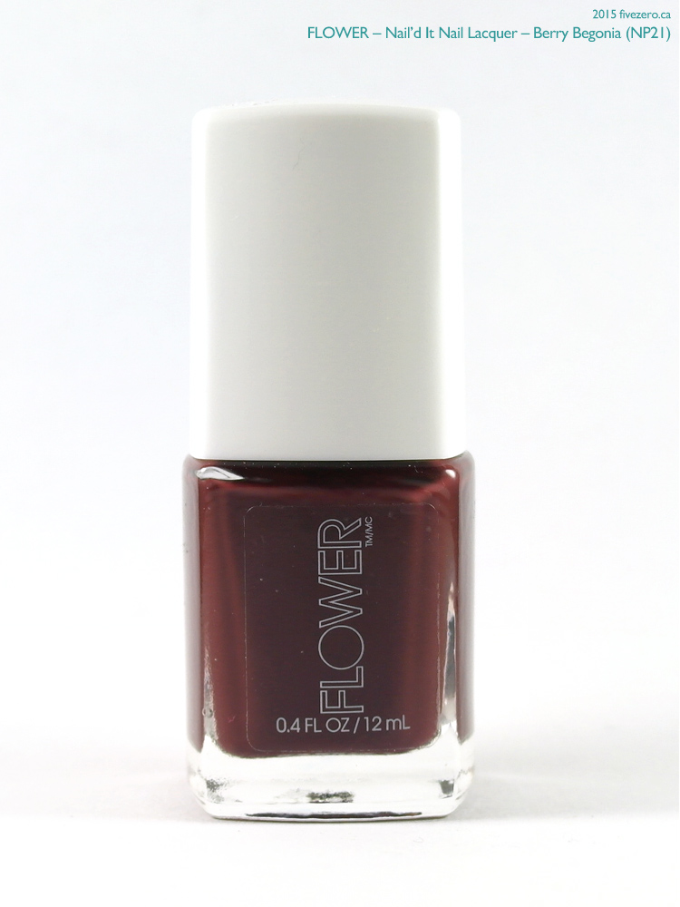Flower Nail'd It Nail Lacquer in Berry Begonia