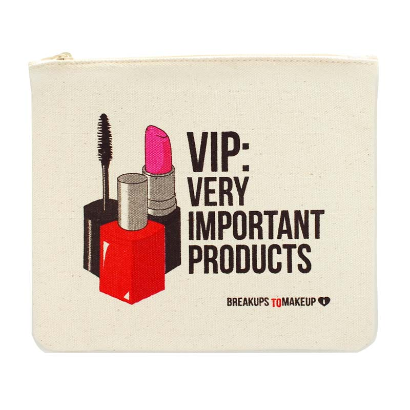 Breakups to Makeup mini cosmetic bag