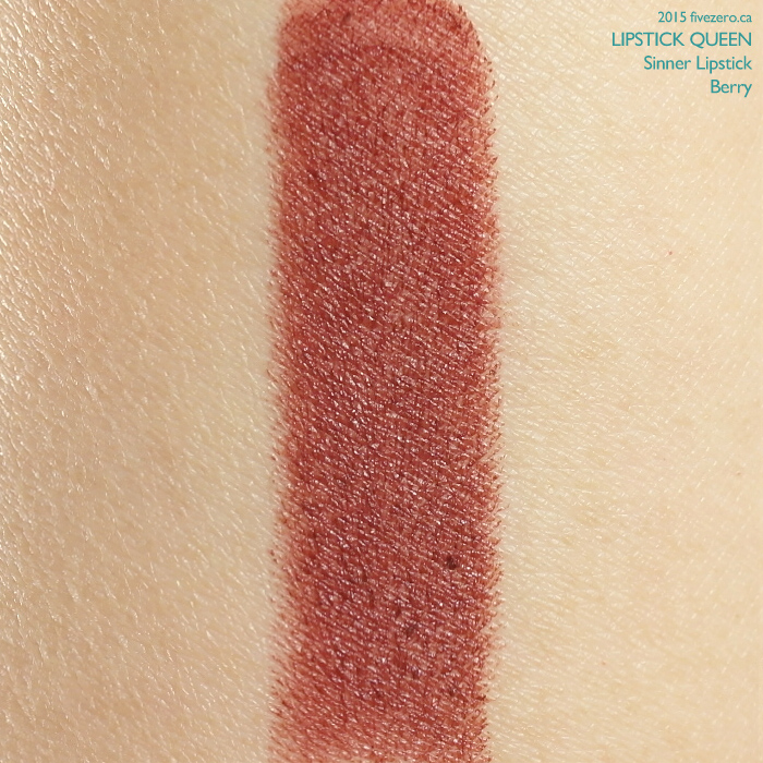 Lipstick Queen Sinner Lipstick in Berry, swatch
