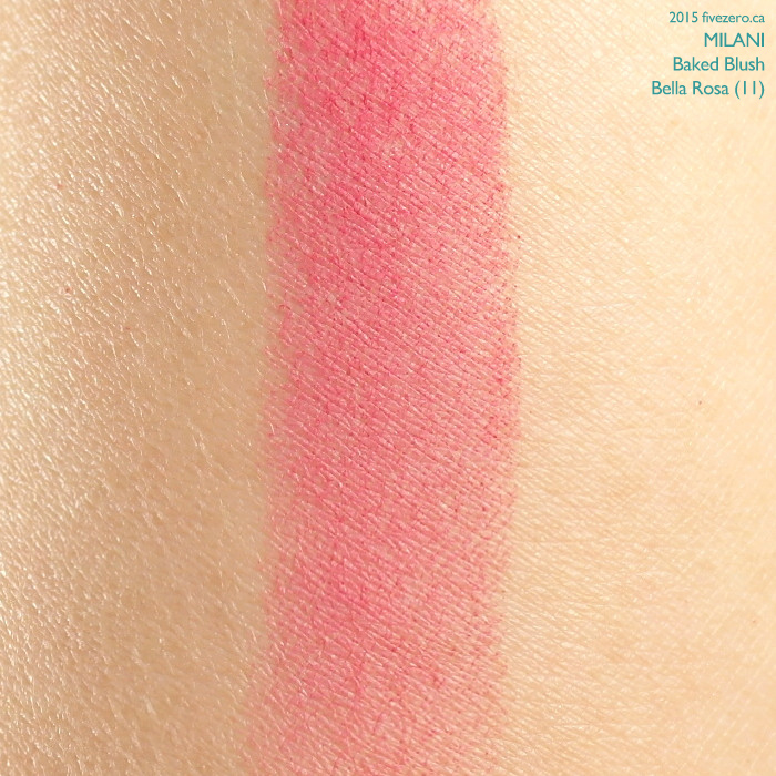 Milani Baked Blush in Bella Rosa, swatch
