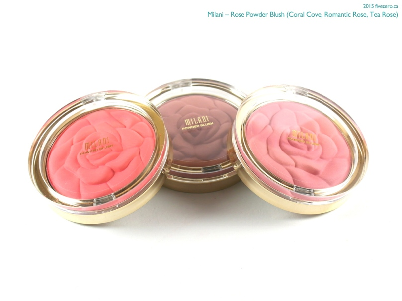 Milani Rose Powder Blush in Coral Cove, Romantic Rose & Tea Rose