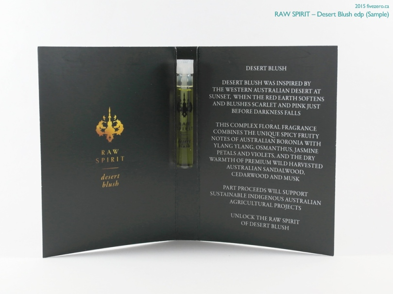 Raw Spirit Desert Blush eau de parfum (sample)
