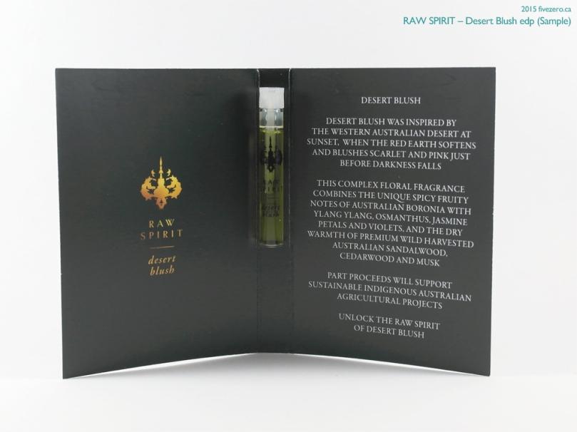 Raw Spirit Desert Blush eau de parfum (sample)