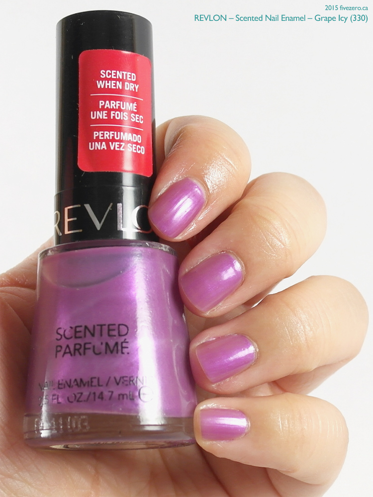 Revlon Scented Nail Enamel in Grape Icy, swatch