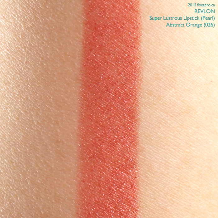 Revlon Super Lustrous Lipstick in Abstract Orange, swatch