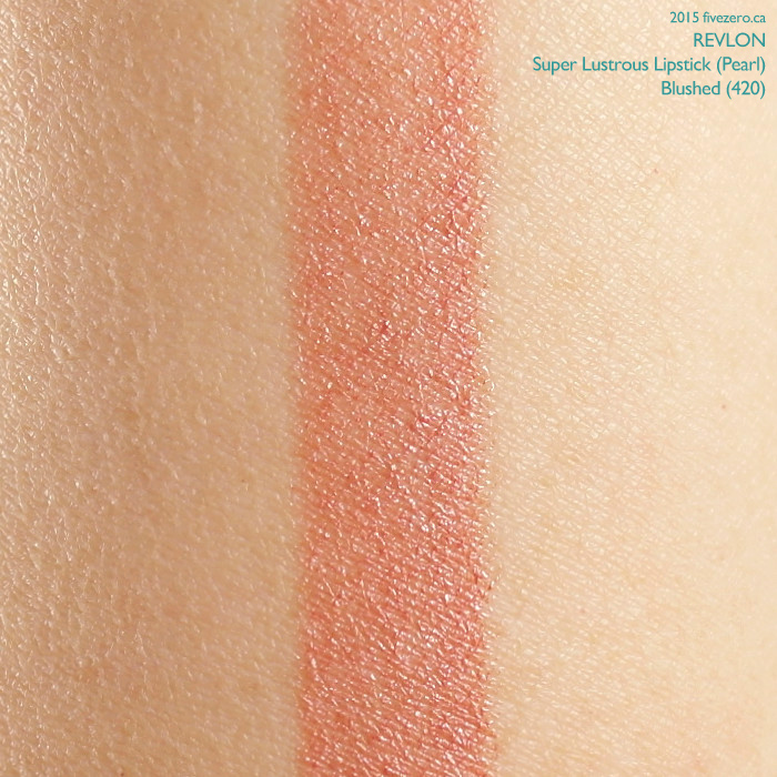 Revlon Super Lustrous Lipstick in Blushed, swatch