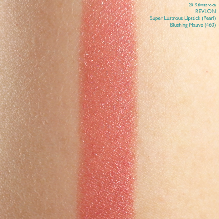 Revlon Super Lustrous Lipstick in Blushing Mauve, swatch