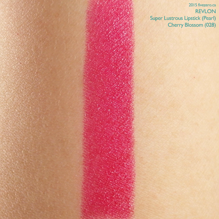 Revlon Super Lustrous Lipstick in Cherry Blossom, swatch