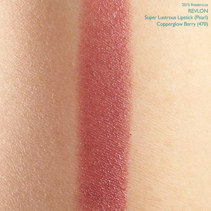 Revlon Super Lustrous Lipstick in Copperglow Berry, swatch