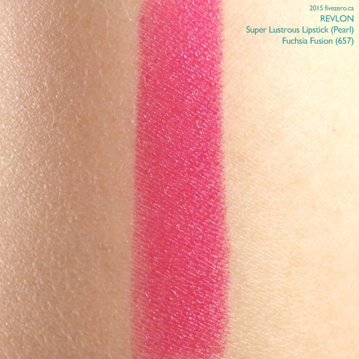 Revlon Super Lustrous Lipstick in Fuchsia Fusion, swatch