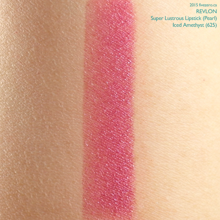 Revlon Super Lustrous Lipstick in Iced Amethyst, swatch