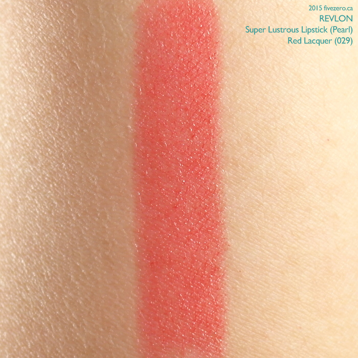 Revlon Super Lustrous Lipstick in Red Lacquer, swatch