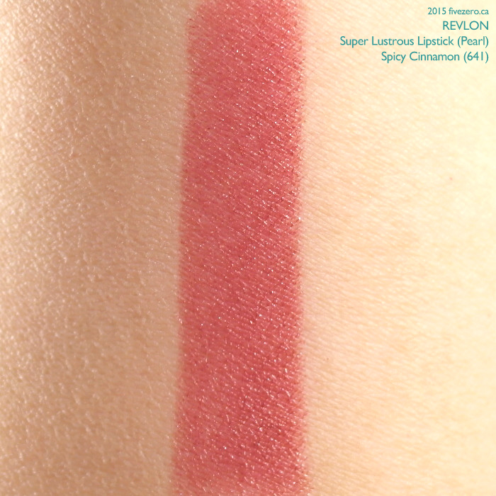 Revlon Super Lustrous Lipstick in Spicy Cinnamon, swatch