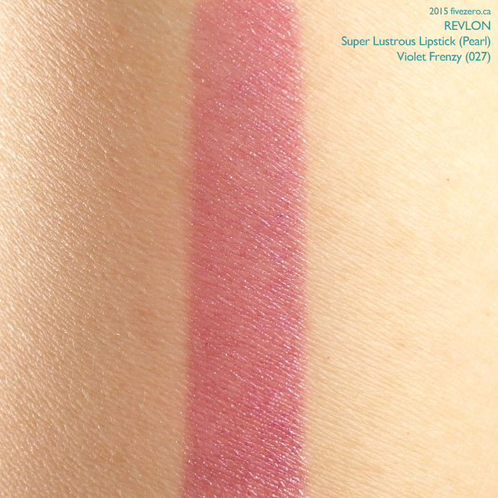 Revlon Super Lustrous Lipstick in Violet Frenzy, swatch