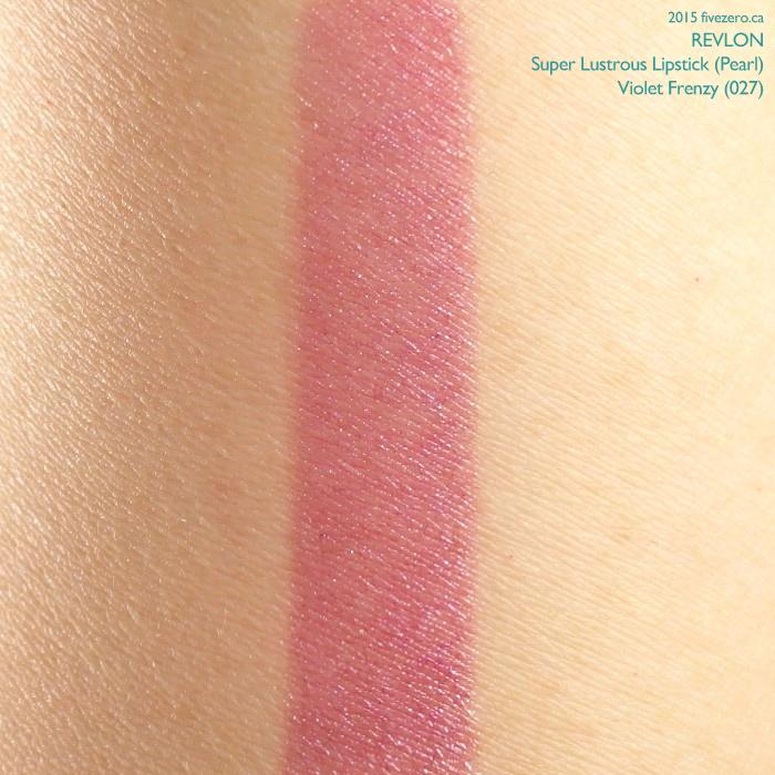 Revlon Super Lustrous Lipstick in Violet Frenzy, swatch